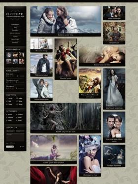 Giao diện website cho photogragper Chocolate