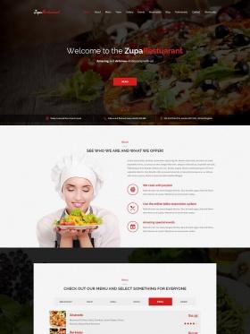 Thiết kế website nhà hàng chuyên nghiệp Zupa