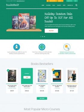 Giao diện website Book Shelf
