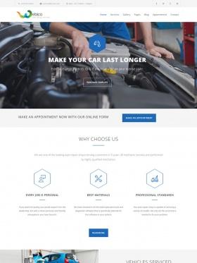 thiet ke web sua xe car service
