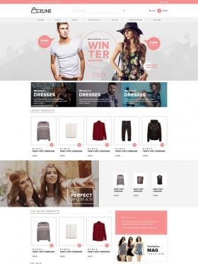 Giao diện website bán hàng Celine