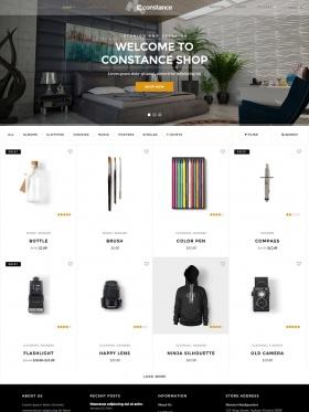 Giao diện website cho bán hàng Constance