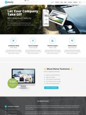 Thiết kế web công ty chuyên nghiệp Velocity
