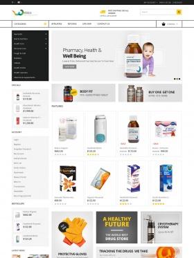 thiet ke website ban thuoc vita store opencart