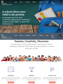 Classroom – WordPress Education Theme