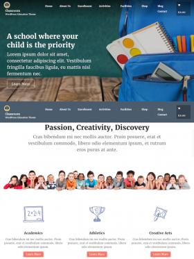 Classroom – WordPress Education Theme