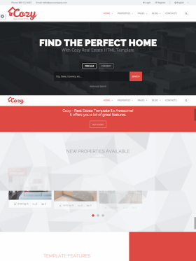 Cozy HTML5 Template