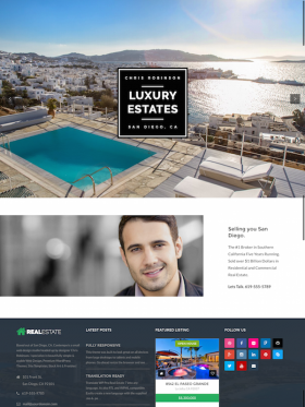 Homepage – Agent – WP Pro Real Estate 7