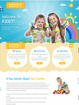 Kiddy Children WordPress Theme