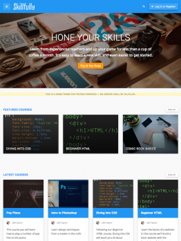 Skillfully – A Learning Management Theme