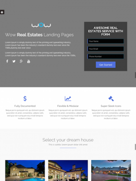 WOW Landing Page Templates