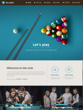 Be Theme Muffingroup Billiard