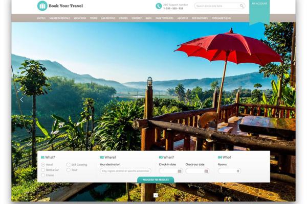 Website đã đưa ra tính nổi bật của doanh nghiệp. Có thệ thống chỗ nghỉ ngơi sang trọng mang đầy tính du lịch nghỉ dưỡng