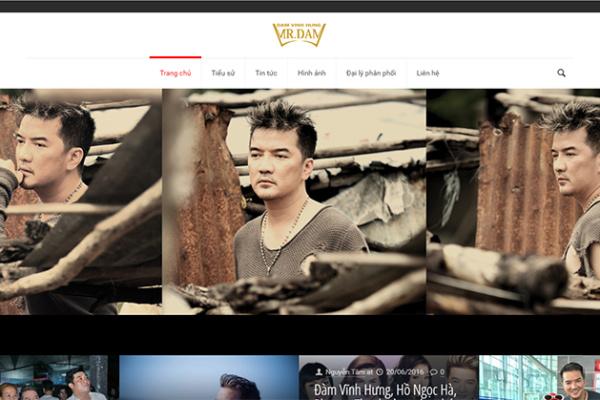 Thiet Ke Website Ca Nhan Nghe Si Chuyen Nghiep